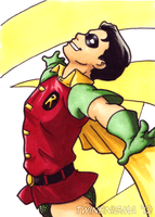 Dick Grayson Classic art card by TwinEnigma