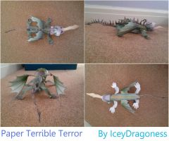 Paper Terrible Terror by IceyDragoness