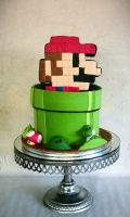 8-bit Mario by I-am-Ginger-Pops