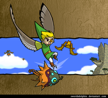 Rito Link Aerial Attack by swordxdolphin