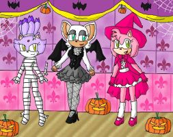 halloween party by ninpeachlover