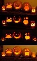 Jack O' Lanterns 2007 by The-grimm-reeper