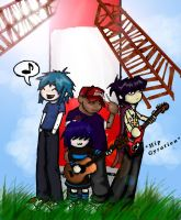 Gorillaz: Feel Chibi Inc. by dragon-queen12