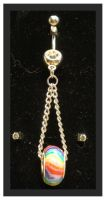 Rainbow Dione Navel Ring by RebelATS