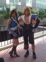 lynne and tidus by Kermlin-Dusk