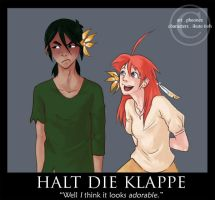 :: Halt Die Klappe by hawberries