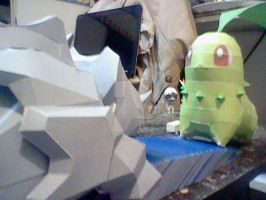 Chikorita last work of 2014 by DarkRockerRUS