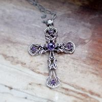 Sterling silver Cross Pendant by taniri