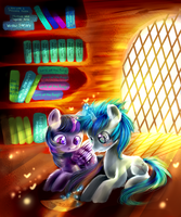 Writing a story MLP by AquaGalaxy