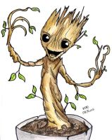 I AM BABY GROOT by altworld