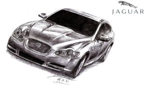 Jaguar XFR Drawing by toyonda