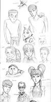 Frankenweenie Sketches by xRedxPiratex