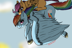Hey look more Scoots and Dash by WhiteHawk19