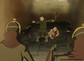 Bolin protects Mako by lostatsea101