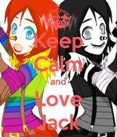 Rainbow Jack  and Laughing Jack Poster by Euphobea