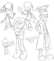 Invader Zim Fan Art Sketches by Mhagni