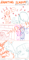 SOS: rlly lame comic 4 haunted house event by BootyKou