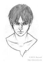 Eren Jaeger (Sketch) by SBuzzard