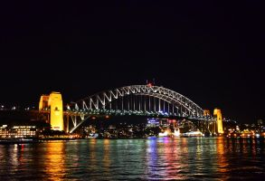 Sydney Harbor Bridge at night by honda-vfr