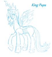 King Pupa - Colt Queen Chrysalis by PONYPUKE