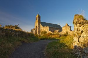 St Mary's Holy Island by parallel-pam