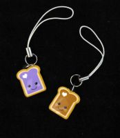 PBJ Best Friend Cell Straps by egyptianruin