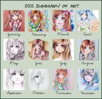Summary of Art 2011 by Tajii-chan