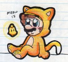 Kitty Mario :3 by BabyAbbieStar