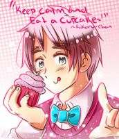 2p!England - Keep Calm and Eat a Cupcake by Kikaru-StudioS