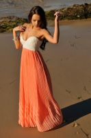 Annali - orange and white dress 7 by wildplaces