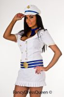 White Captains First Mate Sailor Costume by fancydressqueen