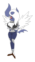 Hazel Absol mega evolution by redryan2009