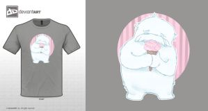 the abominable snowman - pink by blancaJP