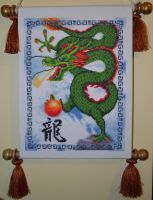 Asian Dragon Cross Stitch by myctchr