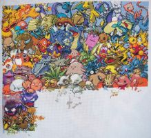 Pokemon Gen. 1 Cross Stitch 10 by lizardlea