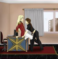 Fraternization is not allowed....or is it by pinkandblackcat