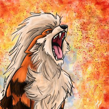 Pokemon: Arcanine the Fire Dog by chocolatetater-tot
