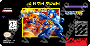 Mega Man 7 Label by vladictivo
