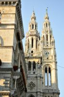Vienna Rathaus towers by wildplaces