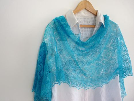 Blue lagoon lacy stole by MadelinesWardrobe