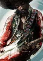 Jimi Hendrix by tom-b123