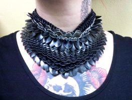 Black Scalemaille Necklace by Divulged
