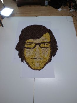 Link from Rhett and Link made out of Cereal by TheUnusualArt