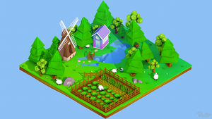 Low Poly Chunk by prolinesproductions
