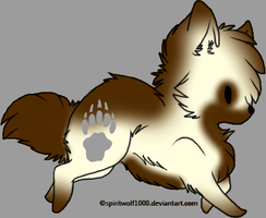 Cinnimon Dog Adopt CLOSED by waterflamewerewolf
