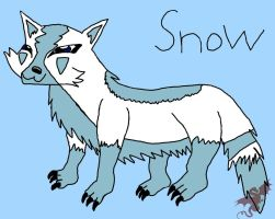 Snow fixed in paint by SyvaTheWolf123