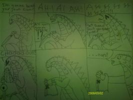 Godzilla 2014 mini comic! The sneeze of death! by MrJLM18