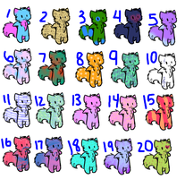 FREE CHIBI KITTY ADOPTS CLOSED by RozziDoodles