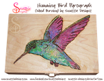 Hummingbird Pyrograph (Wood Burning) by snazzie-designz