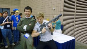 AWA 2013: Vic Mignogna and the Assassin Phaser by galaxy1701d